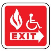 Fire safety sign - Fire Escape Handicap 054